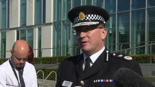 Chief Constable Ian Hopkins updates the media on the ongoing investigation into a suicide bombing in Manchester