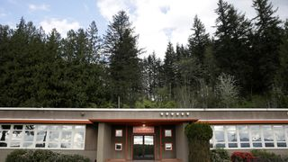 The DirtFish Rally School, formerly the offices of the Snoqualmie Falls Lumber Company and the filming location of the Twin Peaks Sheriffs Department