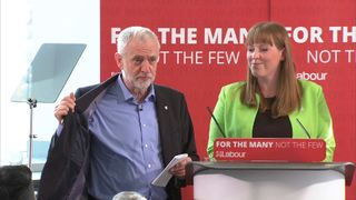 Jeremy Corbyn explains to journalists that he is hiding nothing