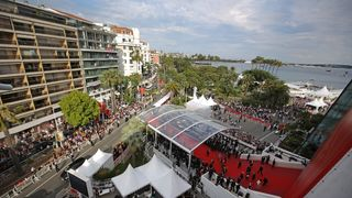 A general view of Cannes as guests attend the 'Loveless (Nelyubov)' screening during the 70th annual Cannes Film Festival at Palais des Festivals