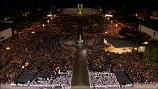 """Pope Francis called on harmony among """"all people"""" during a visit to Fatima in Portugal"""