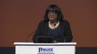 Diane Abbott at the Police Federation conference