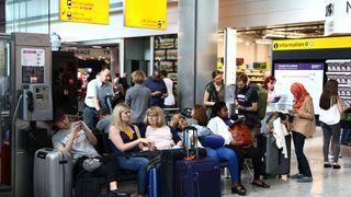 People stranded at Heathrow Terminal 5 amid a BA IT failure