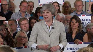 PM Theresa May speaking in Twickenham