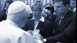 The McCann parents meet with the Pope.