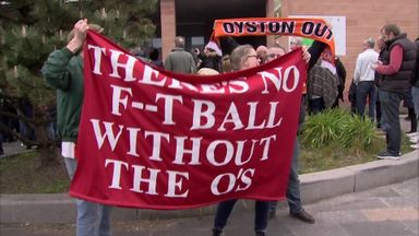 Blackpool & Orient fans protest