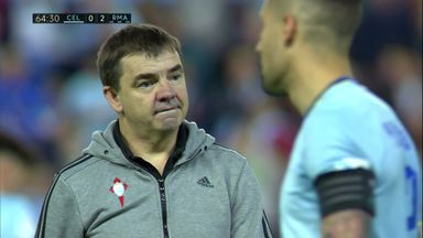 Celta coach storms across park