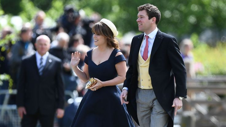 Princess Beatrice arrives at the wedding