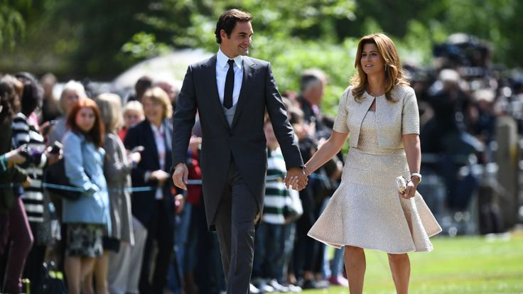 Roger Federer attended Pippa Middleton's wedding with his wife Mirka
