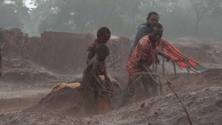 February 2017: Dorsen struggles to move dirt during heavy rain