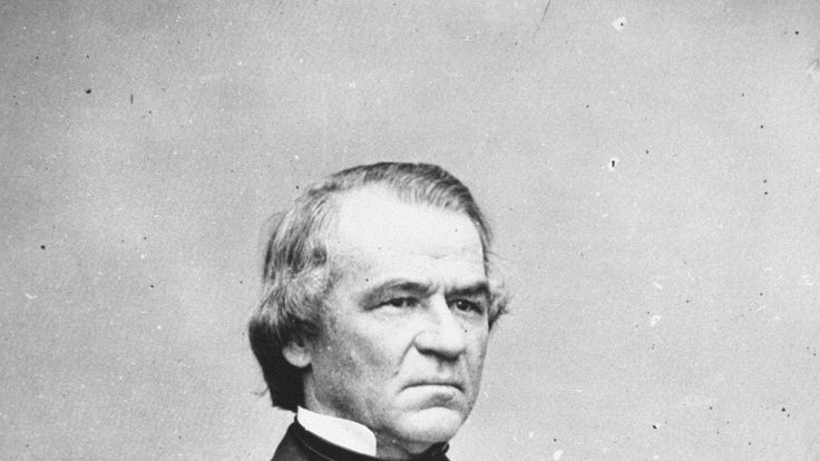 US President Andrew Johnson