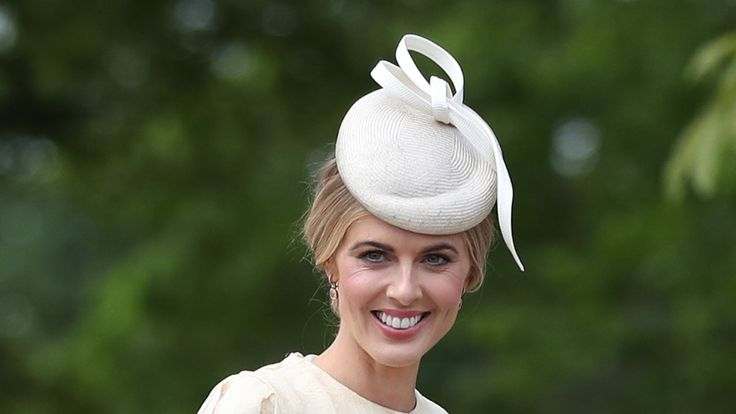 TV presenter Donna Air arriving at the wedding