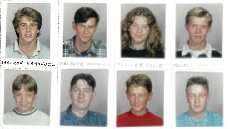Emmanuel Macron's yearbook in 1992/93