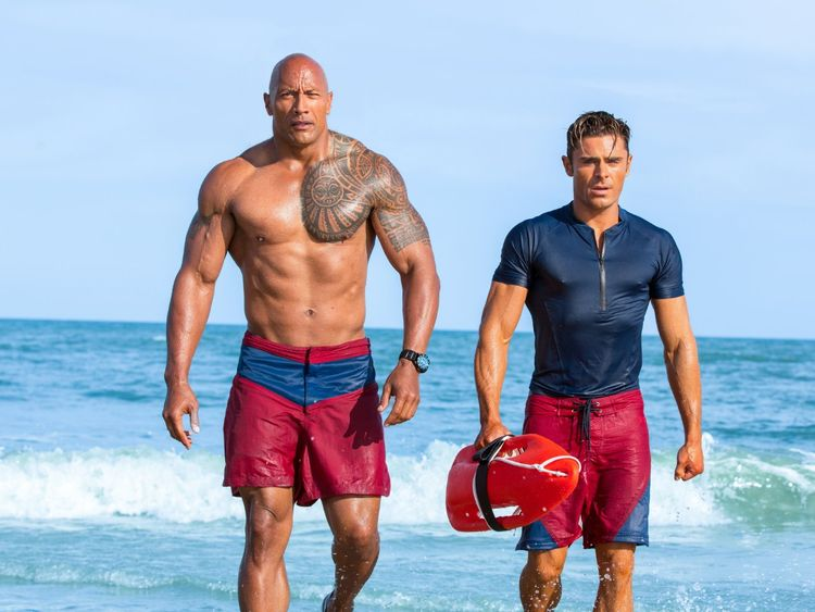 Efron's next film is a reboot of the 1990s TV show Baywatch starring The Rock