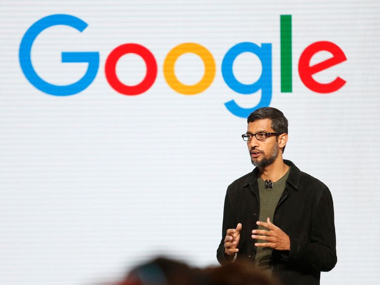 Google CEO Sundar Pichai speaks during the presentation of new Google hardware in San Francisco, California, U.S. October 4, 2016