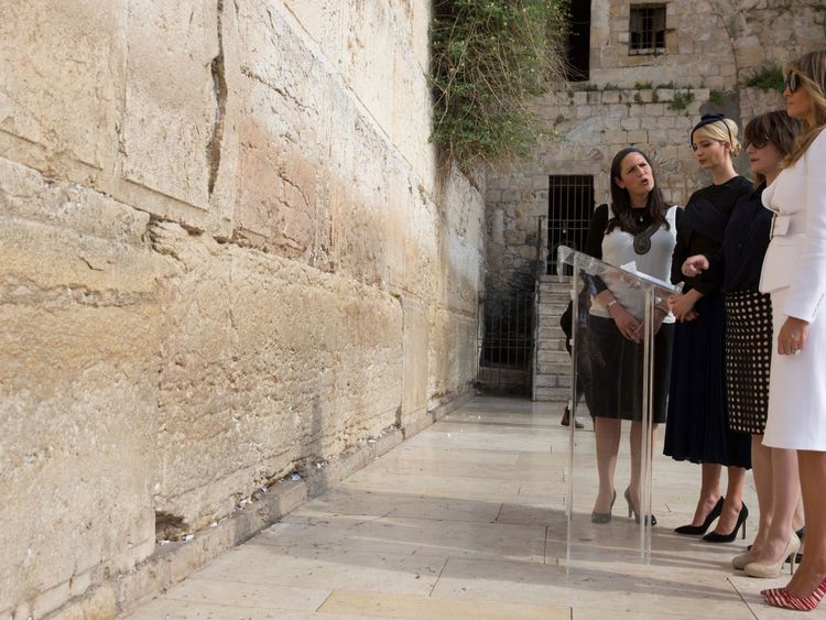 Melania and Ivanka Trump also visited Jerusalem's sacred Western Wall site