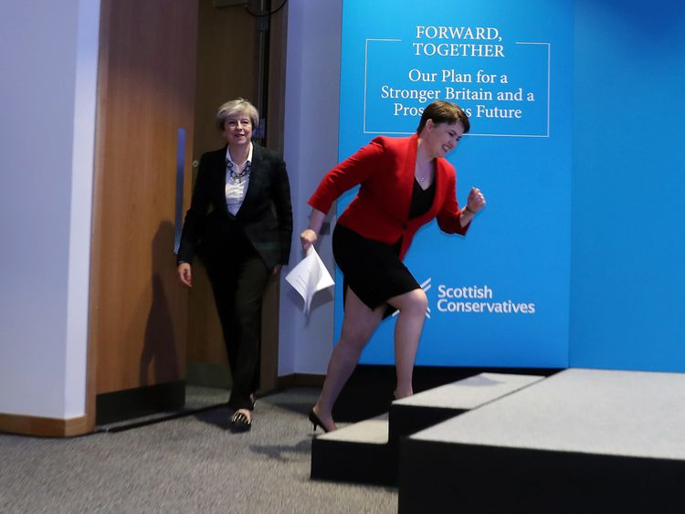 Ruth Davidson and the Scottish Conservatives are heading in a different direction