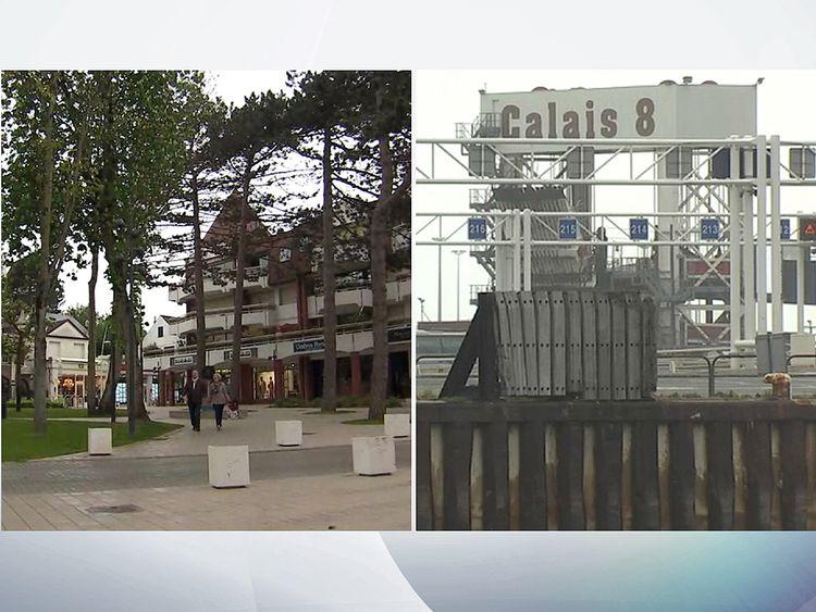 Le Touquet and Calais