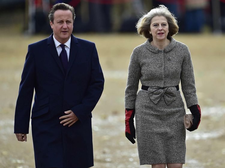 Theresa May and David Cameron in 2014