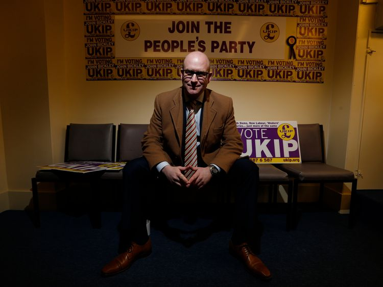 Paul Nuttall in the Heywood and Middleton campaign headquarters