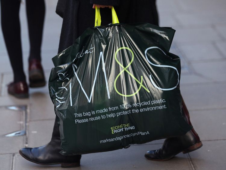 Marks & Spencer sees profits fall