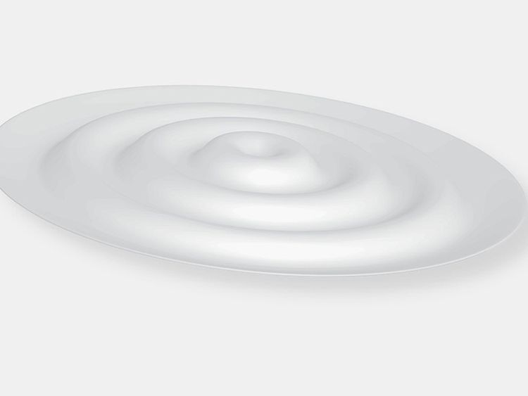 The plate has ridges and troughs that reduce its overall surface area