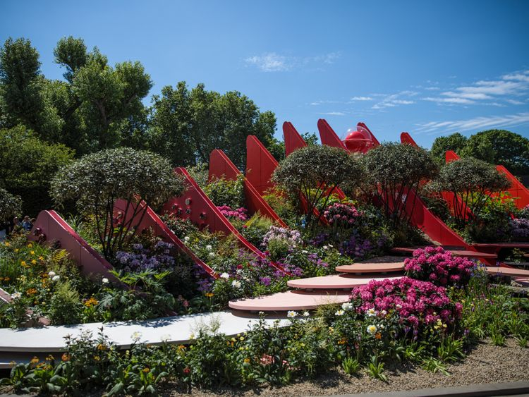 The 'Chengdu Silk Road Garden' at  Chelsea Flower Show 2017