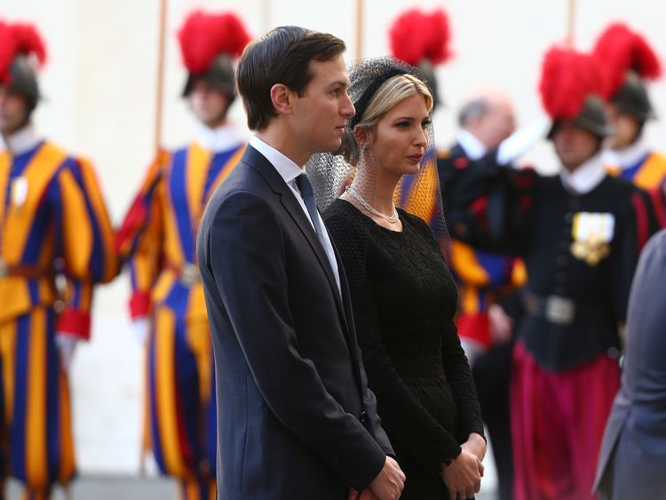 The President's daughter, Ivanka, and her husband Jared Kushner went on the visit