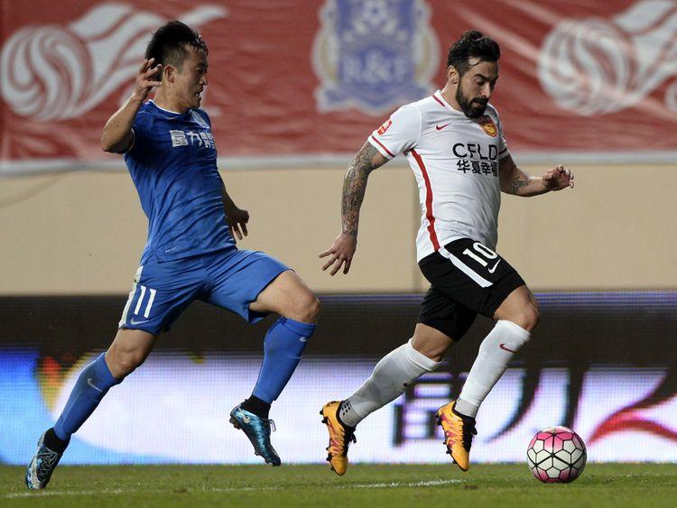 Hebei CF described Lavezzi as 'the next Maradona' when he signed for the club