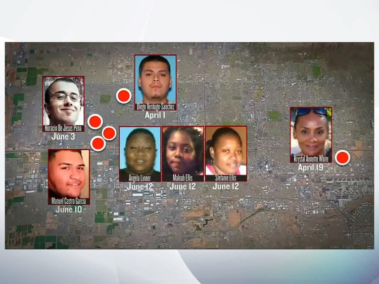 Seven of the victims of the so-called Serial Street Shooter in Phoenix