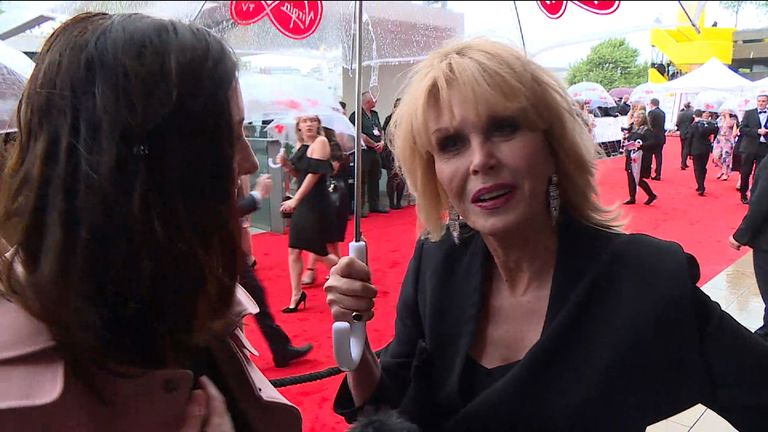 Joanna Lumley is up for the Fellowship award