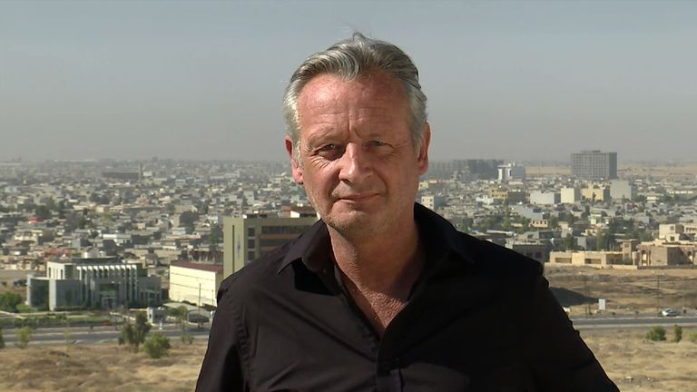 Sky's Stuart Ramsay reports from Mosul