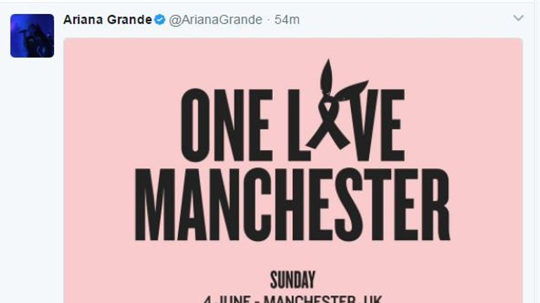 Grande tweeted the line-up announcement to her 46.5m followers