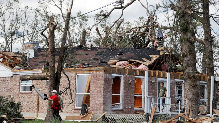 At least four tornadoes are thought to have hit east Texas over the weekend