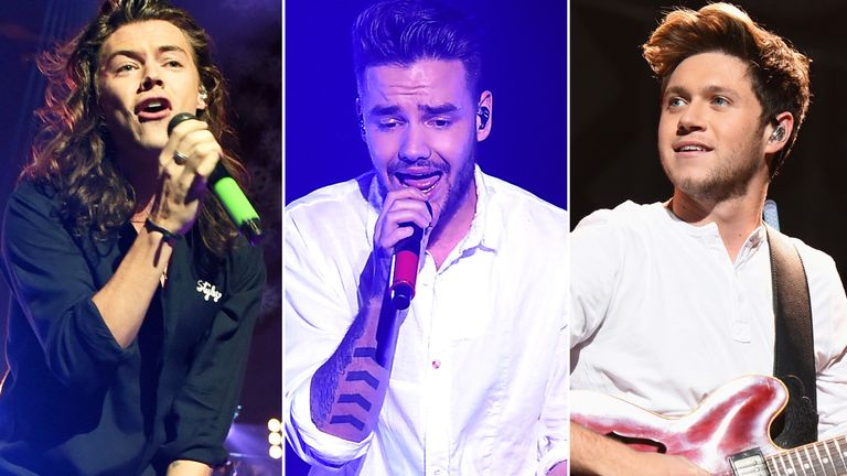 Harry Styles, Liam Payne and Niall Horan