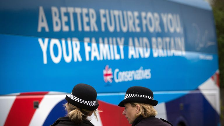 The police have been investigating the Conservatives over their 2015 election 'battle bus'