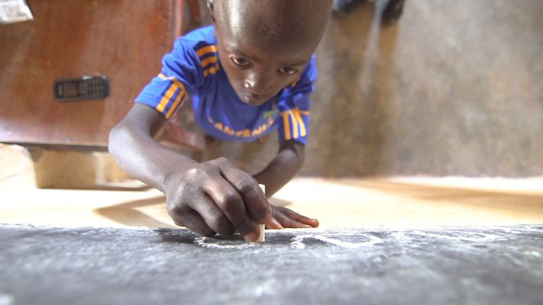 Charity Kimbilio is helping to fund the boys' education