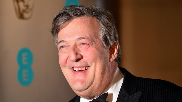 Stephen Fry attending the after show party for the EE British Academy Film Awards at the Grosvenor House Hotel in central London