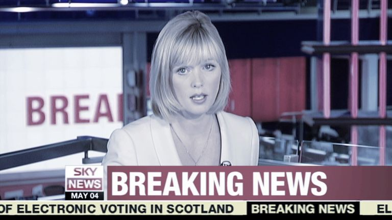 The morning after Madeleine's disappearance, news reaches the Sky studio of a missing three-year-old girl.
