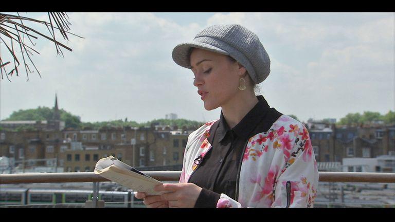 Performance poet Sabrina Mahfouz