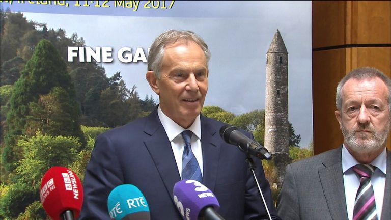 "Former Prime Minister, Tony Blair has spoken out against the UK leaving the EU, warning that a hard border in Ireland would be a ""disaster""."