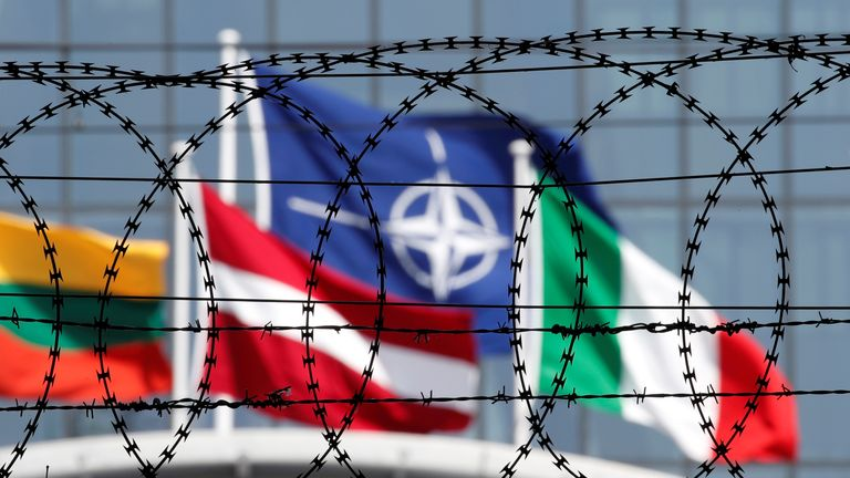 The new NATO headquarters in Brussels, Belgium