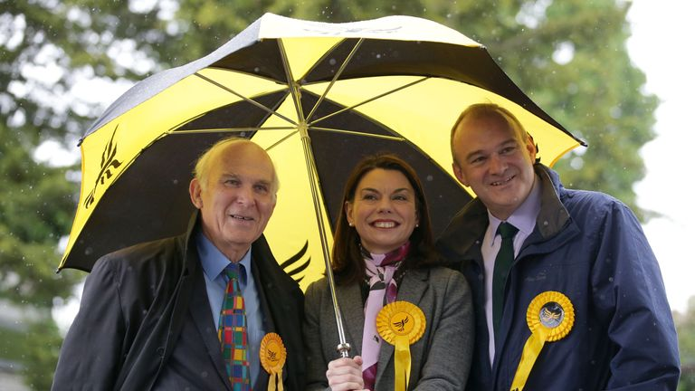 Vince Cable and Sarah Olney are campaigning in neighbouring constituencies