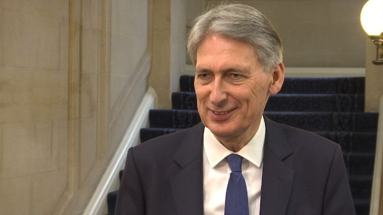 "Philip Hammond dismisses reports of a rift with Theresa May as ""tittle tattle"""