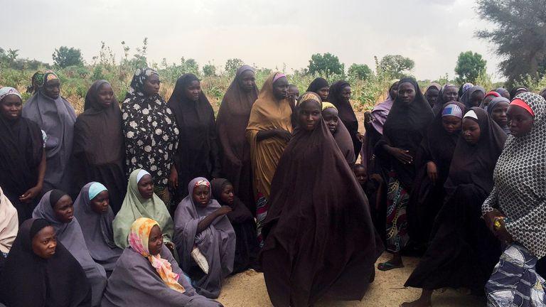 Freed schoolgirls