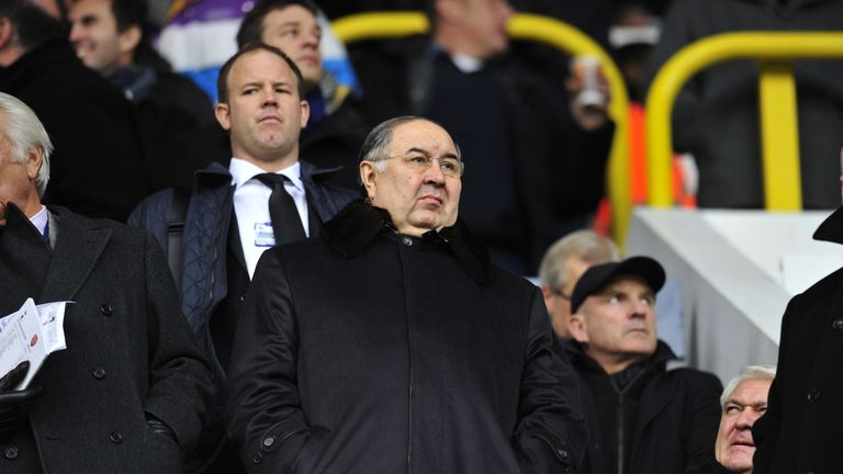 Arsenal's Russian shareholder Alisher Usmanov