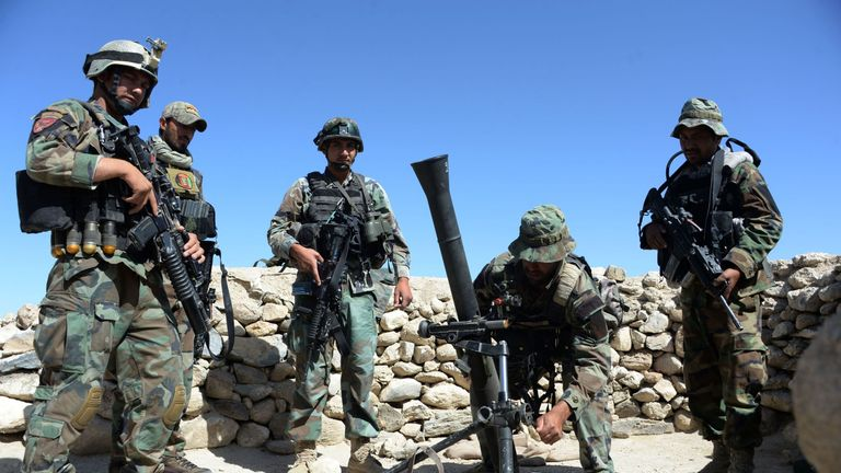 FILE PIC: Afghan special forces were involved in the operation