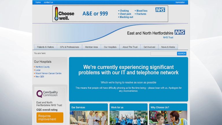 Ransomware attack hits NHS hospitals