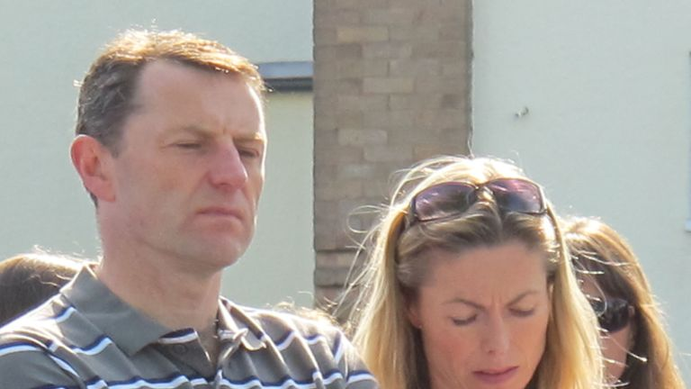 The McCanns attend a service in Leicestershire on the seventh anniversary of Madeleine's disappearance
