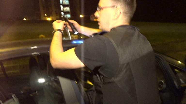 An officer finds a knife in a car they stopped